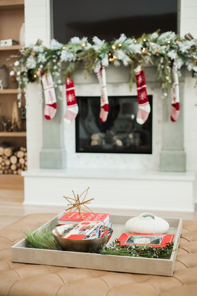 How to decorate my coffee table for christmas