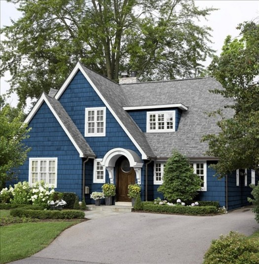 Benjamin Moore 805 New York State Of Mind Navy Exterior Paint Color