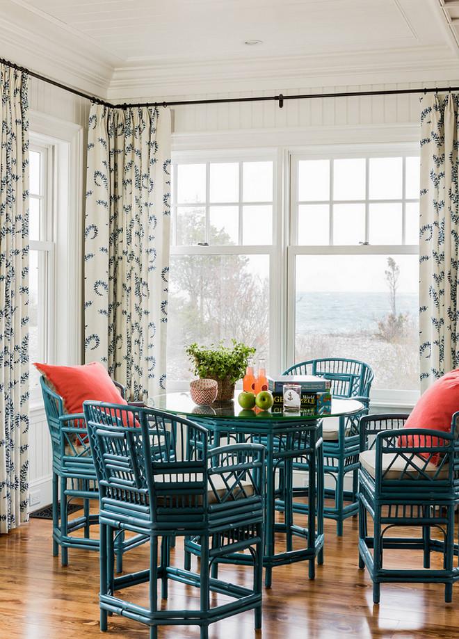 navy blue chair with ottoman painting fabric seats beach house coastal interiors - home bunch interior design ideas
