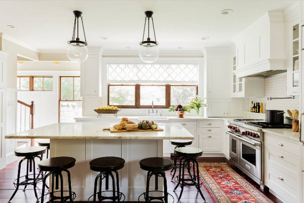 warm kitchen design Choosing Window Treatments for your Kitchen Window - Home