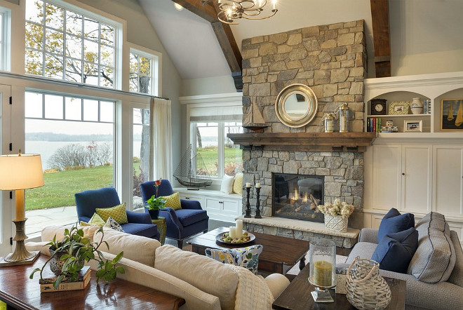 lake house living room photos single chairs for india inspiring interiors home bunch interior design ideas beach stone fireplace beachhouse livingroom