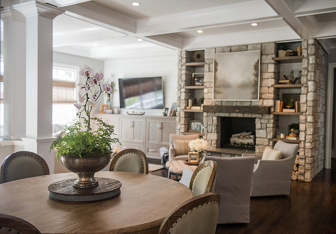 Dining room open layout. Dining room open concept. Dining room opens to living room. Dining room open layout #DiningroomopenLayout #Diningroomopenconcept Artisan Design Studio