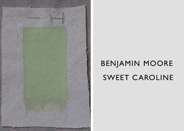 Green Paint Colors, Benjamin Moore Sweet Caroline