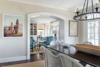 Coastal White kitchen with Navy Blue Island - Home Bunch ...
