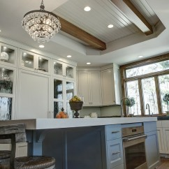 Hickory Kitchen Cabinets Cost Of Remodel Transitional Gray - Home Bunch Interior ...