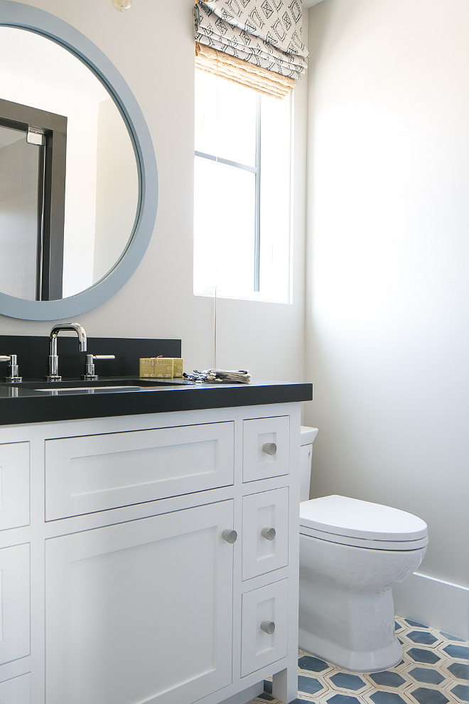 Bathroom Ideas. Bathroom paint color is Dunn Edwards DEC 774 Shady Suprema Eggshell. The faucet is made by Phylrich Designer Faucets. Patterson Custom Homes