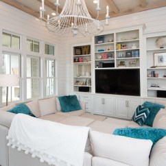 Beach Living Room Decor Ideas Brown Couch House With Transitional Coastal Interiors - Home ...
