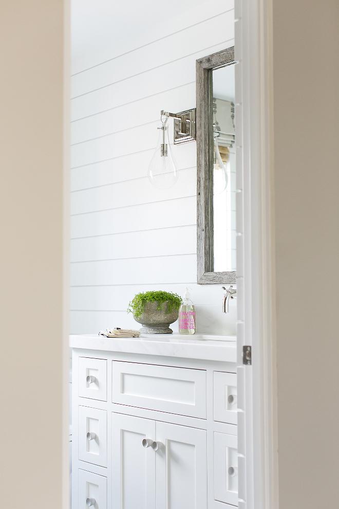 Bathroom shiplap waiscoting. Bathroom shiplap waiscoting and white cabinet. Bathroom shiplap waiscoting ideas. Bathroom shiplap waiscoting size. #Bathroomshiplapwaiscoting #Bathroom #shiplapwaiscoting #shiplap #waiscoting #wall #shiplapsize Patterson Custom Homes