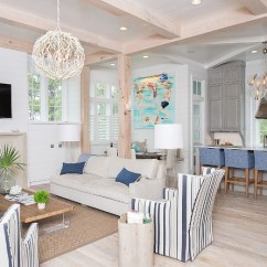 Above Sofa Artwork Dr Sofat Cardiologist Rockville Beach House With Transitional Coastal Interiors - Home ...