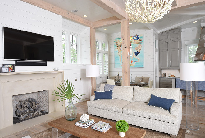 Beach House with Transitional Coastal Interiors  Home Bunch Interior Design Ideas