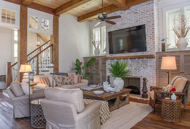 Home With Exposed Brick And Reclaimed Wood Interiors