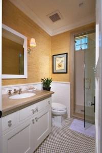 Bathroom Tiles Half Wall : Awesome Brown Bathroom Tiles ...