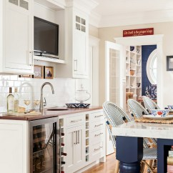 Adding Shelves To Kitchen Cabinets Red Appliances Cape Cod Cottage With Coastal Interiors - Home Bunch ...