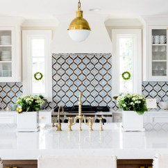 White Kitchen Backsplash Green Chairs With Cambria Quartz Countertop Home Bunch Interior Blue Tile Mosaic