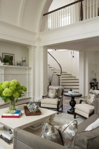 Traditional Living Room with Barrel Ceiling - Home Bunch ...