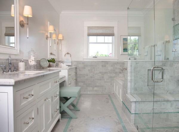 master bathroom tile design ideas Coronado Island Beach House with Coastal Interiors - Home Bunch Interior Design Ideas
