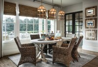 Coastal Farmhouse Style Dining Room