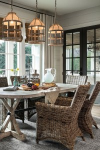 Coastal Farmhouse Style Dining Room