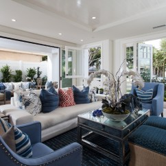 Banana Leaf Dining Room Chairs Boppy Baby Chair Uk Cape Cod California Beach House With Blue And White Interiors - Home Bunch Interior Design Ideas