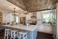 Whitewashed Brick & Reclaimed Barn Wood Shiplap Interiors ...
