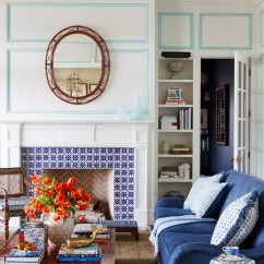 Hickory Dining Room Chairs Chair Covers Cotton Blue And White Beach House Design - Home Bunch Interior Ideas