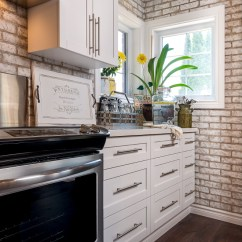 Kitchen Hood Vent Remodel Ideas For Small Kitchens Whitewashed Brick & Reclaimed Barn Wood Shiplap Interiors ...