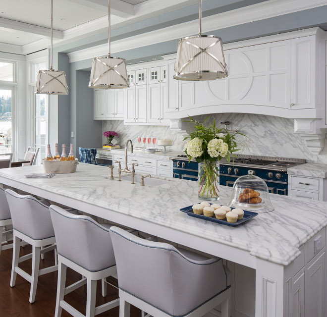 Traditional Coastal Home with Classic White Kitchen  Home