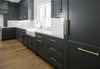Hot New Kitchen Trend: Dark Cabinets, Subway Tile ...