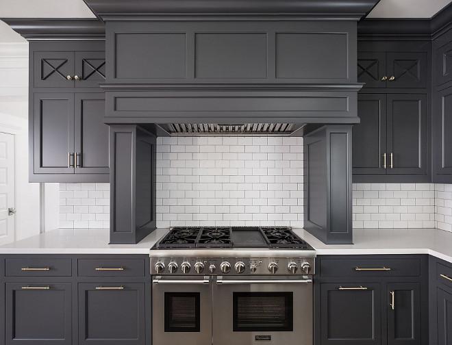 Hot New Kitchen Trend Dark Cabinets Subway Tile