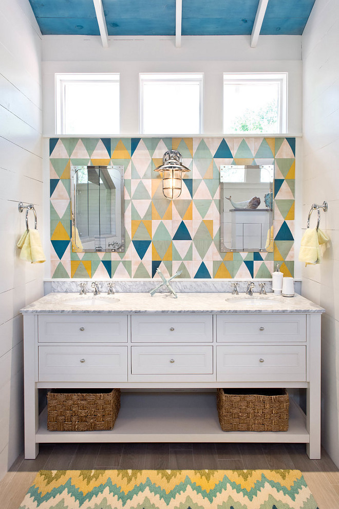 Coastal Cottage Attic Bathroom Remodel  Home Bunch