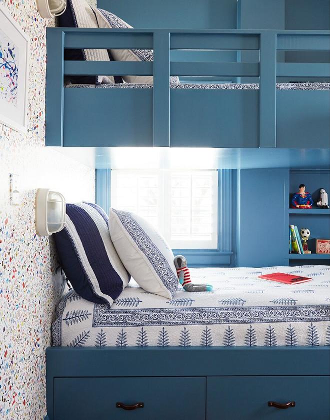 Benjamin Moore 1679 Bedford Blue. Blue bunk beds paint color Benjamin Moore 1679 Bedford Blue. Benjamin Moore 1679 Bedford Blue #BenjaminMoore1679BedfordBlue Andrew Howard Interior Design