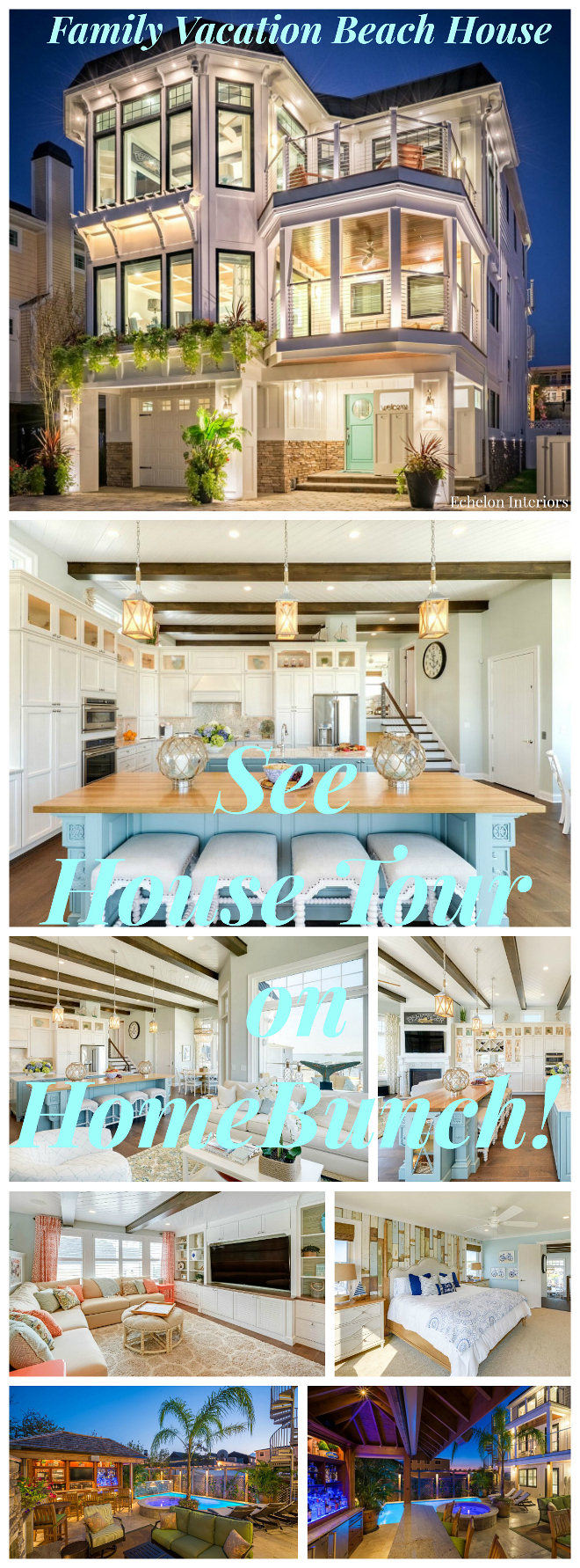 Family Vacation Beach House. See house tour, paint colors and more sources on Home Bunch. Family Vacation Beach House #FamilyVacationBeachHouse
