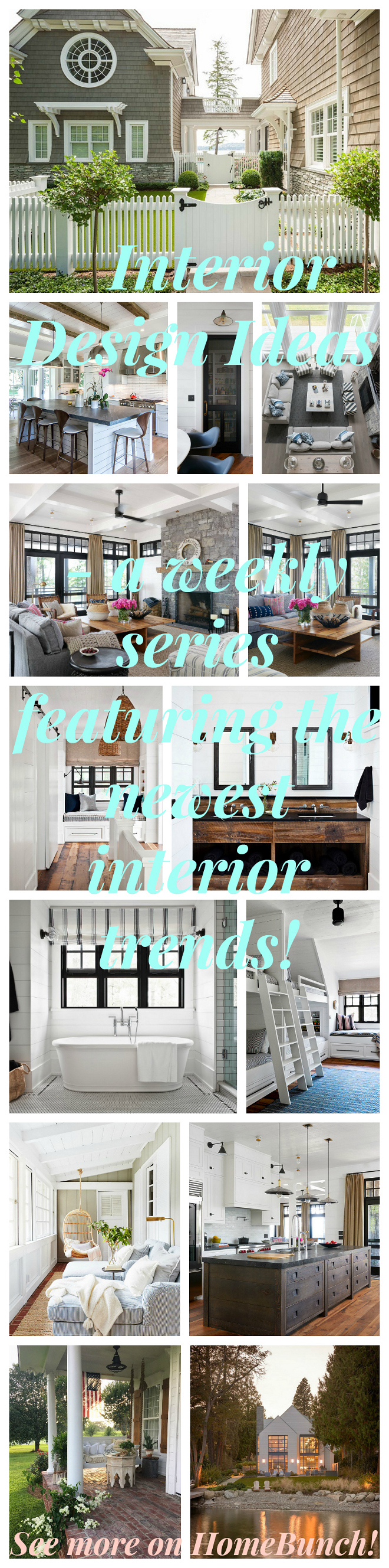Interior Design Ideas - a weekly series featuring the newest interior trends! See more on HomeBunch!