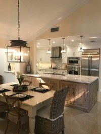 White Kitchen with Driftwood Peninsula - Home Bunch ...