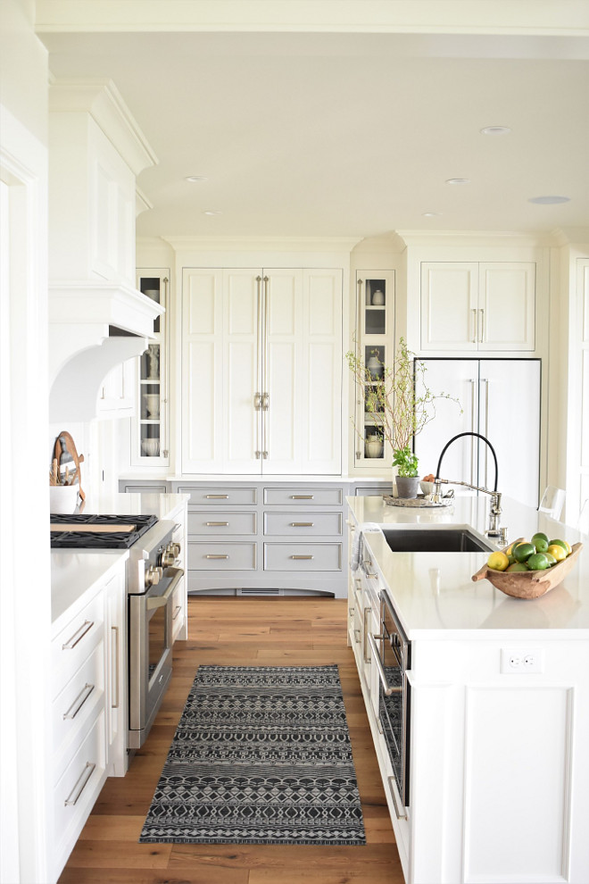 clean kitchen cabinets small islands with seating nantucket-inspired white design - home bunch ...