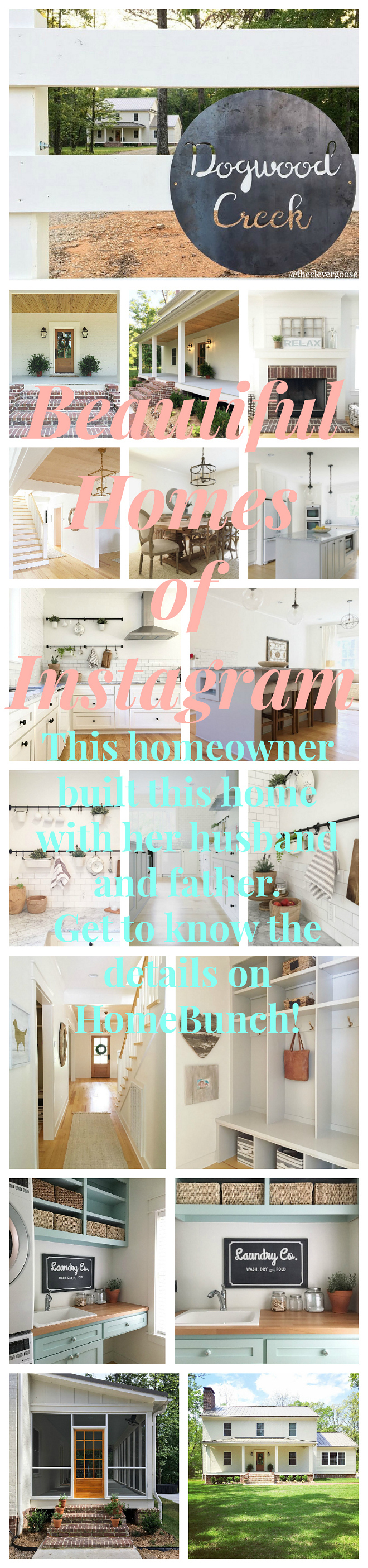 Beautiful Homes of Instagram. This Homeowner built this home with her husband and father. Get to know the details on HomeBunch!