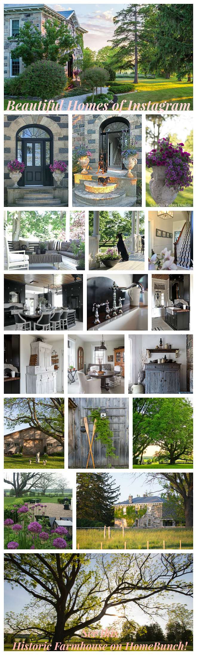 Historic Farmhouse Home Bunch's Beautiful Homes of Instagram Cynthia Weber Design @Cynthia_Weber_Design