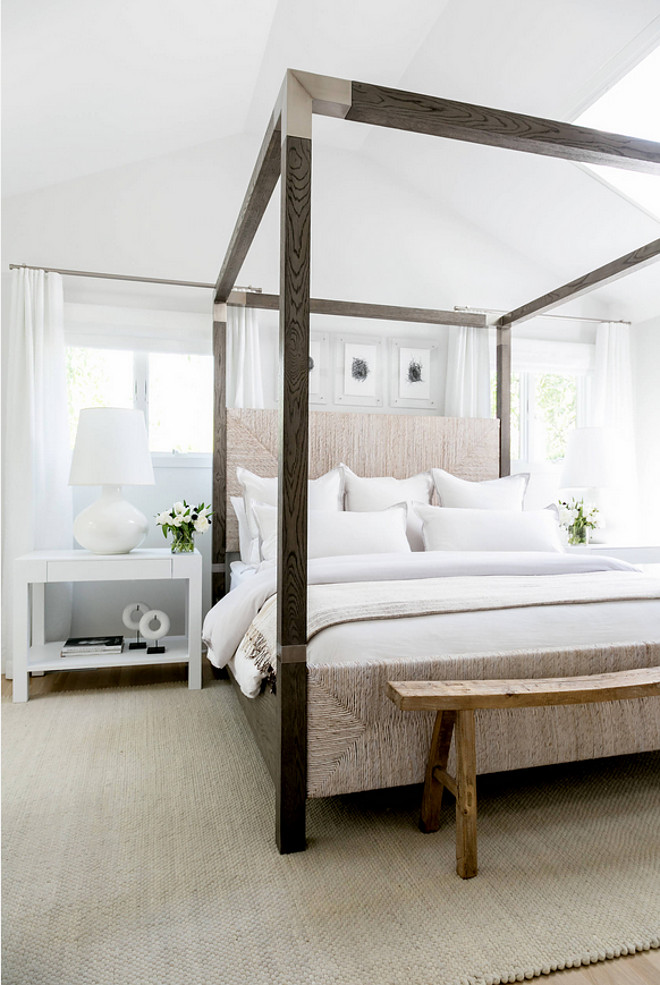 Sleek Bed Ideas. Modern farmhouse bedroom with Sleek Bed. Sleek Bed Ideas #SleekBed #bedIdeas Chango & Co.