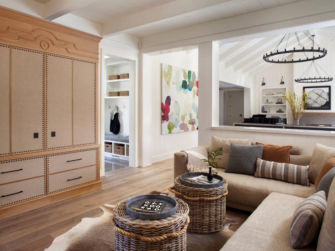 Family room custom cabinet. Family room sectional. Family room baskets Family room #Familyroom #customcabinet #cabinet #sectional #baskets Jennifer Robin Interiors