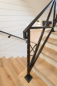 Modern Farmhouse Stair Railing. Awesome Modern Stone ...