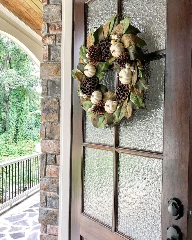 Miniwax Dark Walnut Glass and wood front door. Our front doors are Miniwax Dark Walnut. #glassandwooddoor #wooddoors #MiniwaxDarkWalnut Home Bunch Beautiful Homes of Instagram @mygeorgiahouse
