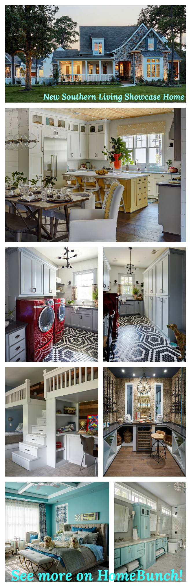 New Southern Living Showcase Home. See all paint colors, lighting and more sources on Home Bunch. #NewSouthernLivingHome #SouthernLivingHome #ShowcaseHome