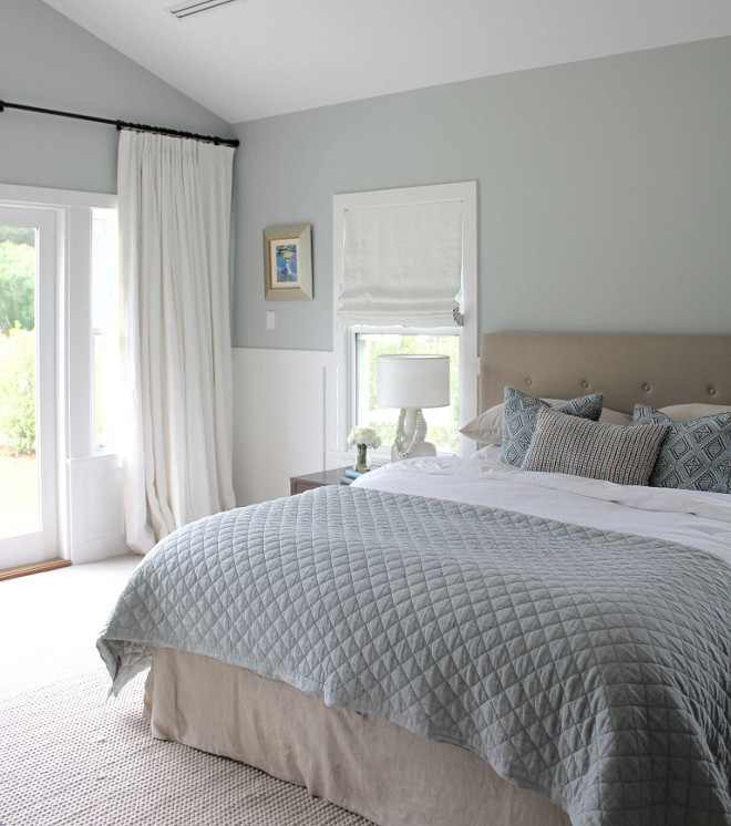 "Dulux Pukaki Paint Color. Soothing bedroom paint color Pukaki by Dulux. Paint is Dulux ""Pukaki"" half strength. Dulux Pukaki Paint Color. Dulux Pukaki Paint Color. Dulux Pukaki Paint Color #Bedroom #paintcolor #soothingpaintcolor #DuluxPukaki #PaintColors Beautiful Homes of Instagram @urban_farmhouse_build"