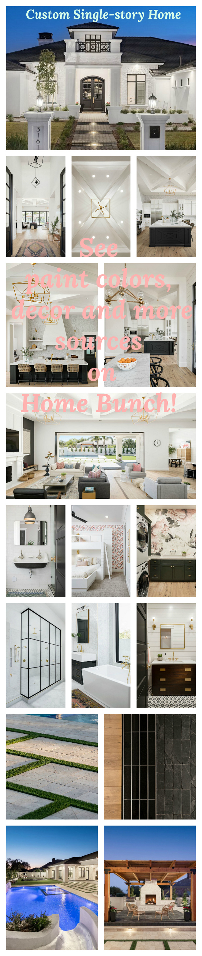 Custom Single-story Home photos #CustomSinglestoryHome #CustomSinglestoryHomeephotos See paint colors, decor, lighting on Home Bunch