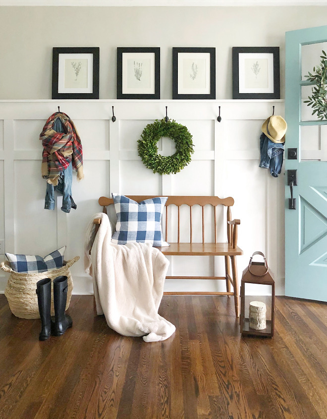 Farmhouse Foyer Grid Board and batten Paneling Farmhouse Foyer Grid Board and batten Paneling Farmhouse Foyer Grid Board and batten Paneling #FarmhouseFoyer #GridBoardandbatten #Boardandbatten #Paneling
