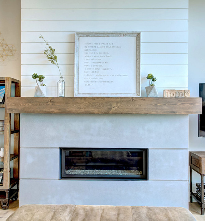 Farmhouse Shiplap Fireplace Farmhouse Shiplap, Fireplace features shiplap trim, Pine Barn beam mantle and Limestone hearth, Fireplace Farmhouse Shiplap Fireplace Farmhouse Shiplap Fireplace Farmhouse Shiplap Fireplace #Farmhouse #Shiplap #Fireplace