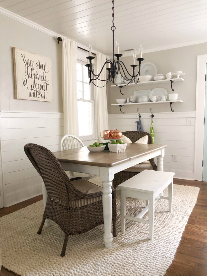 Half wall shiplap Farmhouse dining room with Half wall shiplap Half wall shiplap Half wall shiplap Half wall shiplap Half wall shiplap