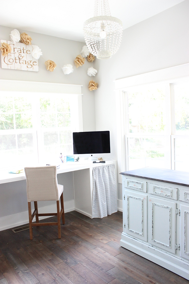 Into my mom zone, you will find a custom desk area and my washing station Beautiful Homes of Instagram Home Bunch @crateandcottage