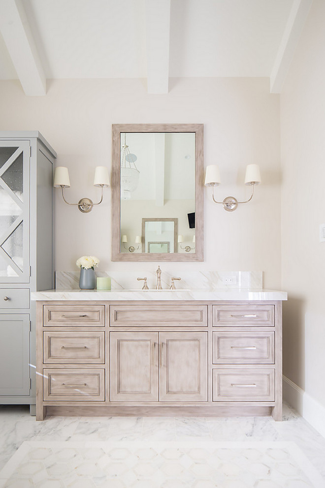 Stained white rift oak Bathroom vanity is Stained white rift oak Stained white rift oak Stained white rift oak #Stainedwhiteriftoak #whiteriftoak