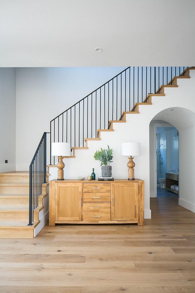 California Modern Farmhouse Beach House Home Bunch Interior | Modern Farmhouse Stair Railing | Contemporary | Design Small House | Simple 2Nd Floor Railing Wood Stairs Iron Railing Design | Vintage Farmhouse | Wire